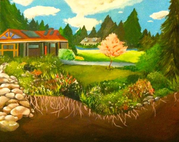 Rain Garden painting