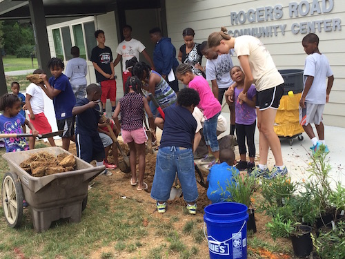 Building a Rain Garden at Roger Road Community Center