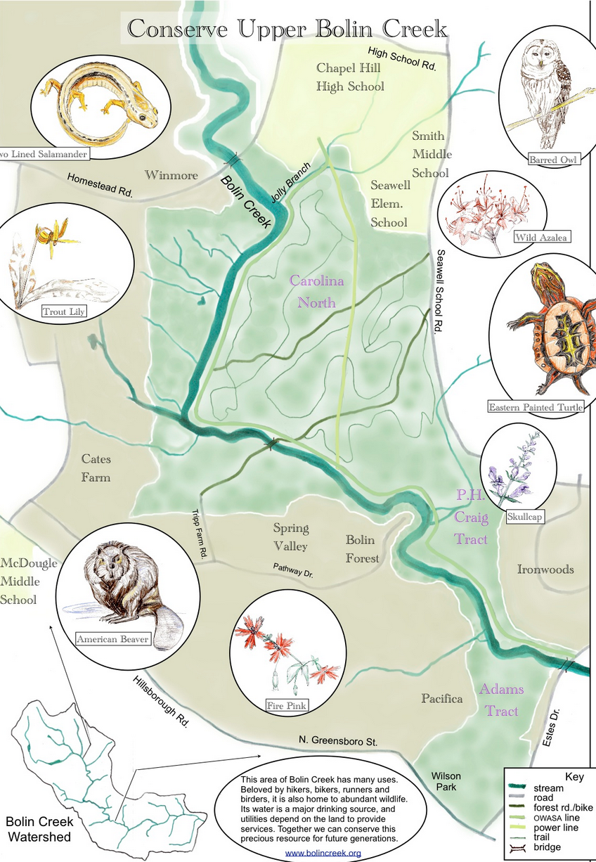 Location Map And Letter From Ph Craig Friends Of Bolin Creek